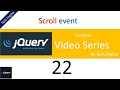 jquery tutorial series (Hindi) - 22 Scroll Event(Enabling a button by scrolling) example