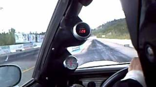 Twin 301 turbo TA / In car eighth mile pass.wmv