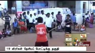 State level Silambam competition at Tanjore