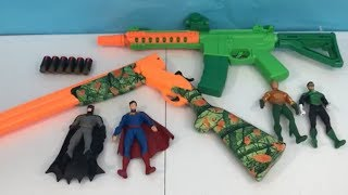 Toy Guns Box of Toys Super Hero Toy Rifles Kids Fun Batman