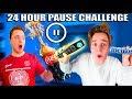 24 Hour PAUSE CHALLENGE! Coke And Mentos Prank (Papa Jake Vs Logan
