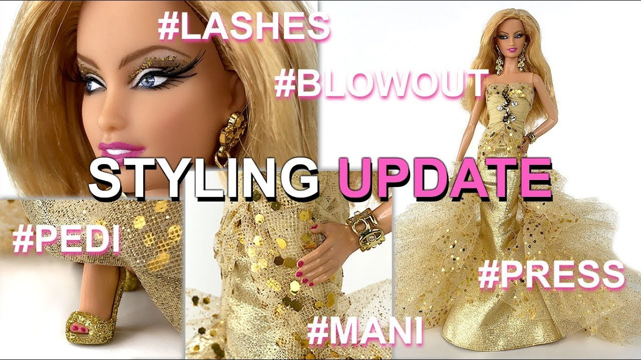 Styling update th anniversary barbie doll how to give barbie