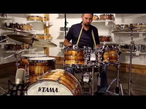 Tama Star Bubinga Exotix Australian Blackwood Drum Set - Video Demo
