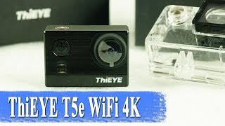 ThiEYE T5e 4K Wi-Fi action camera Ambarella 📹 on review and sample video