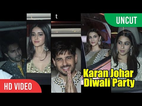 Karan Johar Diwali Party | Varun, Siddharth, Kareena, Sara, Shraddha, Kriti And Many