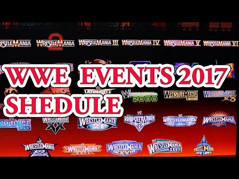 wwe schedule 2017 Best top 10 wwe ppv wwe events schedule 2017 by top ten things