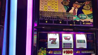 "$100 Mr. Money Bags ""LIVE HANDPAY JACKPOT  Red Screen Without A Cherry"" VGT Slots Choctaw"
