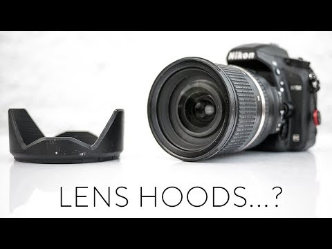 How to use a lens hood...
