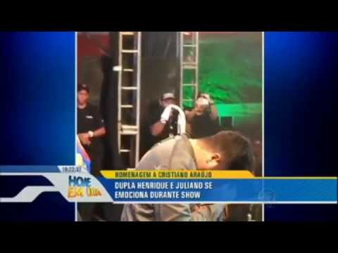 Luan santana chora no palco a morte de Cristiano Araujo