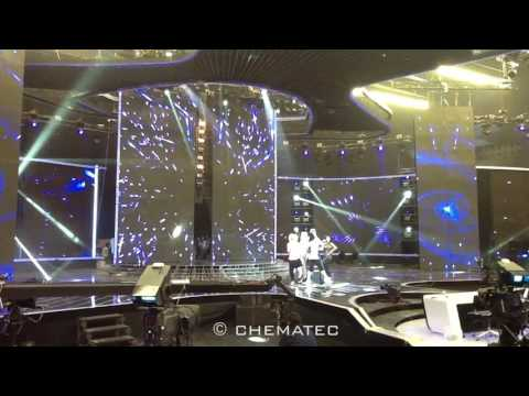 Movable Giant LED Screen Doors - X Factor Arab - Chematec