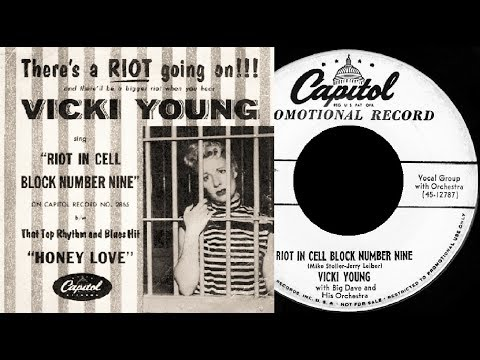 VICKI YOUNG - Riot On Cell Block Number Nine / Honey Love (1954)