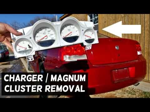 HOW TO REMOVE REPLACE INSTRUMENT CLUSTER GAUGES ON DODGE CHARGER DODGE MAGNUM