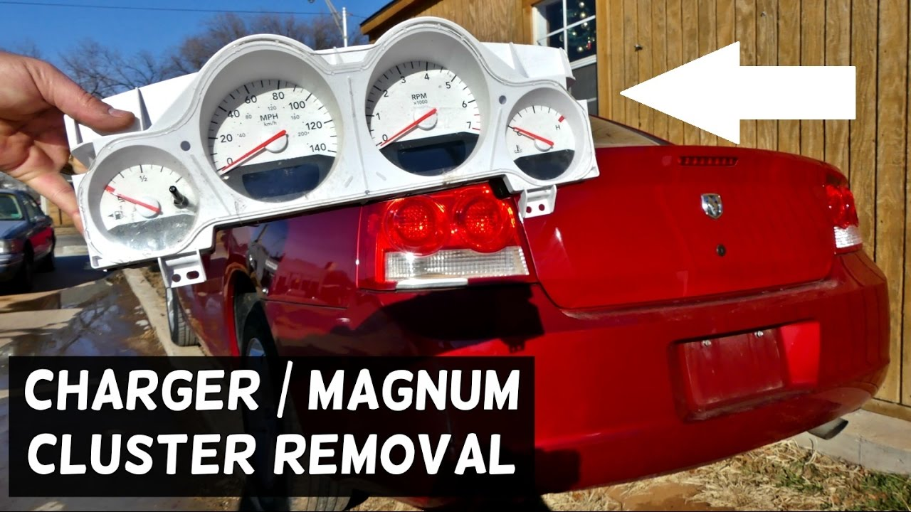 HOW TO REMOVE REPLACE INSTRUMENT CLUSTER GAUGES ON DODGE CHARGER DODGE Odometer Wiring Diagram Dodge Magnum on