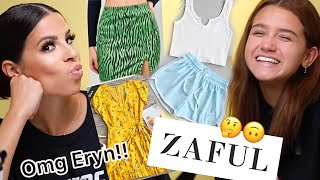ERYN BOUGHT MY ZAFUL CLOTHES! CLOTHING HAUL