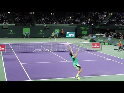 Jack Sock v. Jiri Vesely (Court Level View) 60FPS HD Miami Open 2017 R3