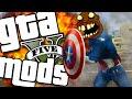 GTA V PC - Muitos Mods Doidos (Capitão América HUE, Pistola Banana, Parkour e Mais)