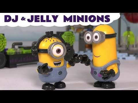 Minions Despicable Me Mega Bloks Construction Toys For Kids DJ Dance Party and Jelly Lab TT4U
