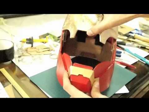 How to make Iron Man Mark 4 Helmet DIY Part 3 - Faceplate Hinges (Diagram) | DIY
