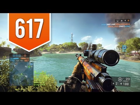BATTLEFIELD 4 (PS4) - Road to Max Rank - Live Multiplayer Gameplay #617 - THE PERFECT SHOT!