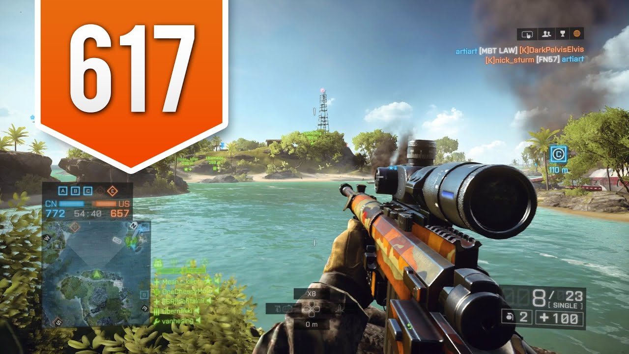 BATTLEFIELD 4 (PS4) - Road to Max Rank - Live Multiplayer Gameplay #617 -  THE PERFECT SHOT! - YouTube