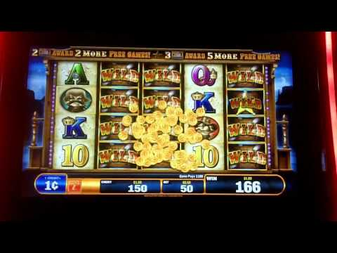 Bally Technologies - Gold Bug The Wild Bunch Slot Bonus Huge Win Over 700x