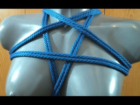 Rope Tutorial Pentagram Chest Harness