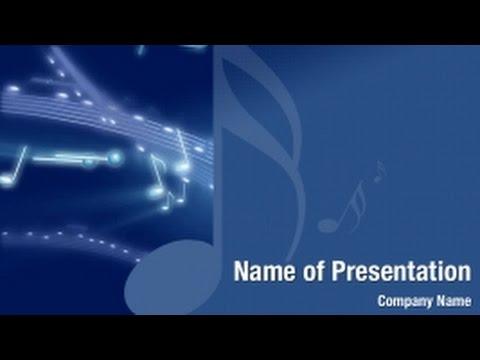Swirl Music Note PowerPoint Video Template Backgrounds - DigitalOfficePro #01305V