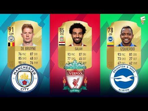 The Highest Rated Player At Every Team In Premier League Of FIFA 18 ⚽ Footchampion