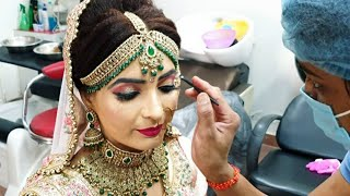 घर बैठे सीखे HD real bridal makeup// step by step easy and simple method for beginners