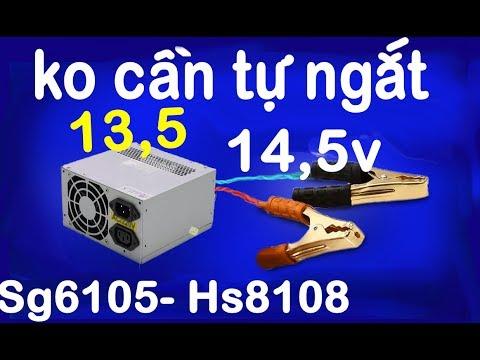 Dùng Nguồn Máy Tính Sạc ắc Quy Không Cần Tự Ngắt, Nâng Atx 13,5vdc, Power Supply SG 6105