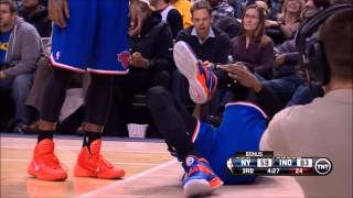 Amare Stoudemire sprains ankle against Golden State