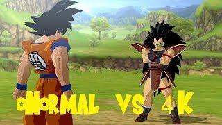 Dragon Ball Z Burst Limit RPCS3 Normal Vs 4K Comparison