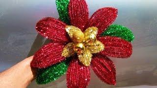 Como Hacer Una Nochebuena Con Limpiapipas/pipe Cleaner Flowers
