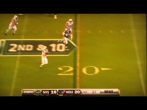 New York Jets Illegal Forward Pass Greg McElroy vs Houston Texans 8/15/2011