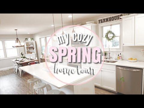 COZY SPRING HOME TOUR | FARMHOUSE DECOR