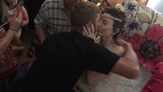 Bride With Terminal Cancer Gets Married While in Hospice Care thumbnail