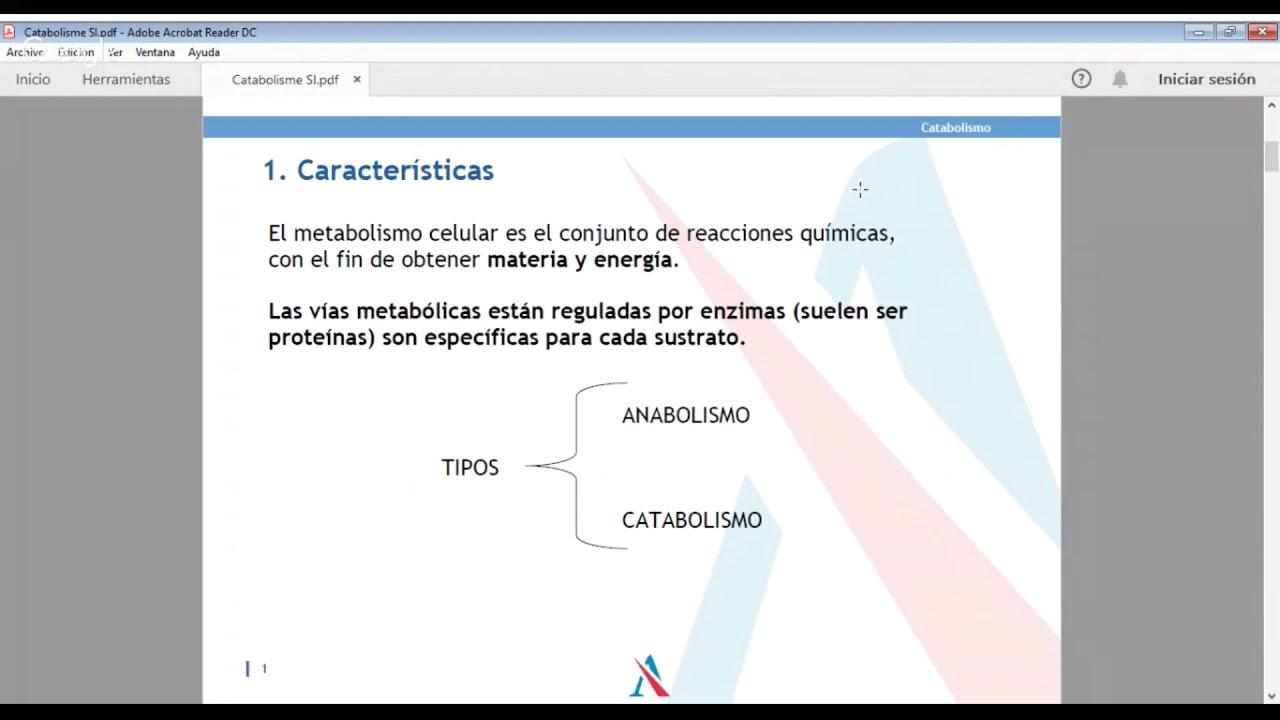 Vídeo Demo: Biología. El metabolismo celular. Preparación..
