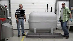 Oil Yeller Wide Containment Tray (PA-001/PA-003) Installation on Fiberglass Oil Tank