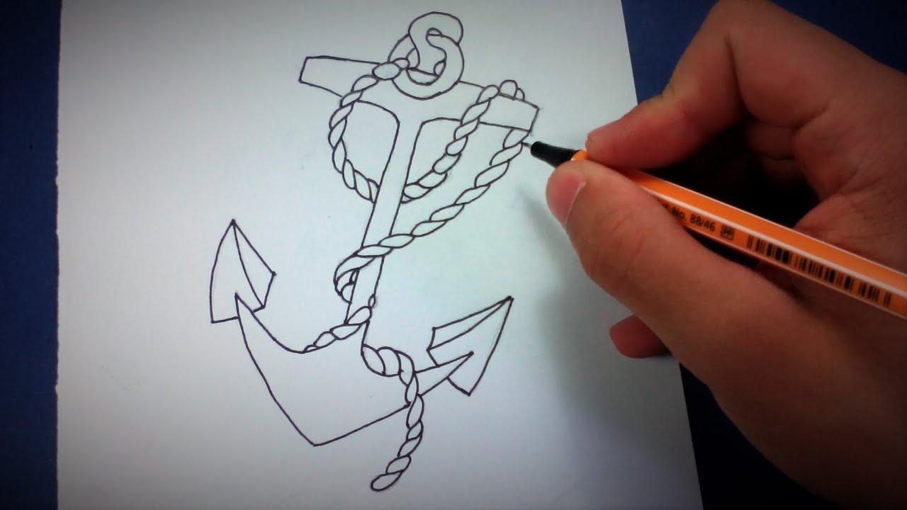 Desenhos Tumblr De Mão Estalando Como Fazer: Como Desenhar Uma Âncora