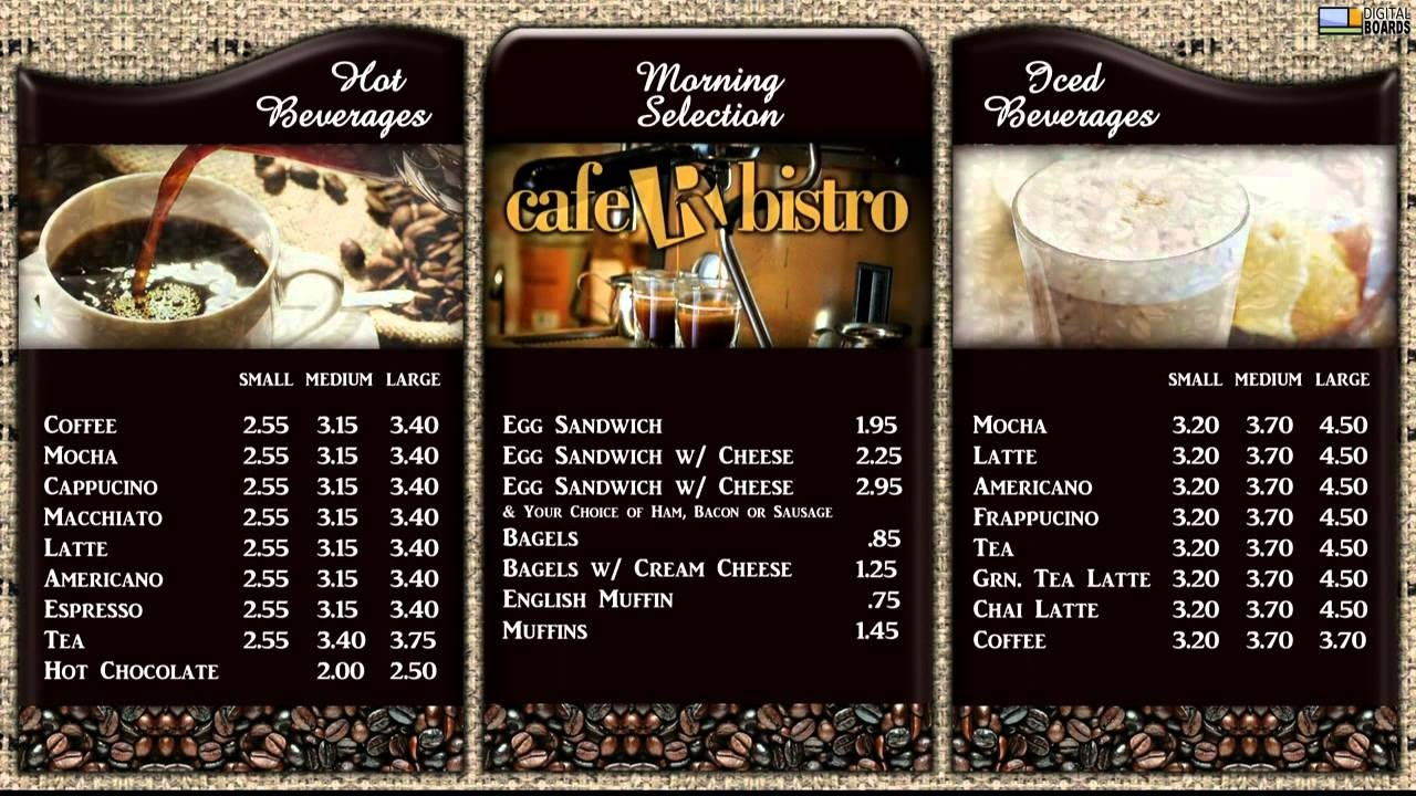 Oxford Dictionary Lesson 47 A Coffee Menu Learn English Picture You