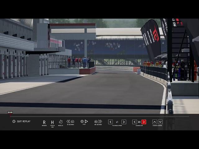 Live PS4-uitzending van FP Sim Racing  Assetto Corsa Competizione,final lap 500KM race