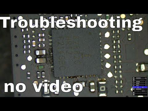 Macbook Pro logic board no video how to repair 820-3330