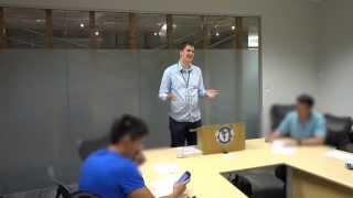 Toastmasters Sergeant at Arms example - Geoff Peters at Best Run Toastmasters in Vancouver BC Canada