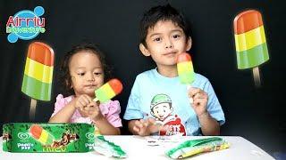 Belajar Warna || Ice cream Paddle pop Trico Lucu dan Seru