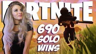 Fortnite - SOLO GRIND! ROAD TO 700 WINS. 690 SOLO WINS. 12000+ KILLS. SOLO SHOWDOWN & REGULAR SOLOS!
