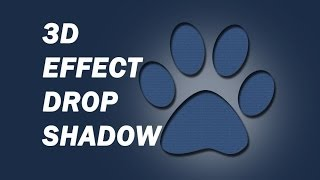 Photoshop - 3D effect using Drop shadow & Inner shadow