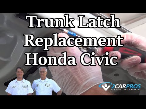 Trunk Latch Replacement Honda Civic 2000 2005 Youtube