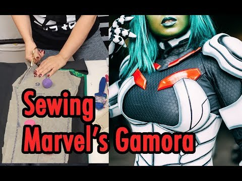 Sewing Gamora from Guardians of the Galaxy Marvel Comic