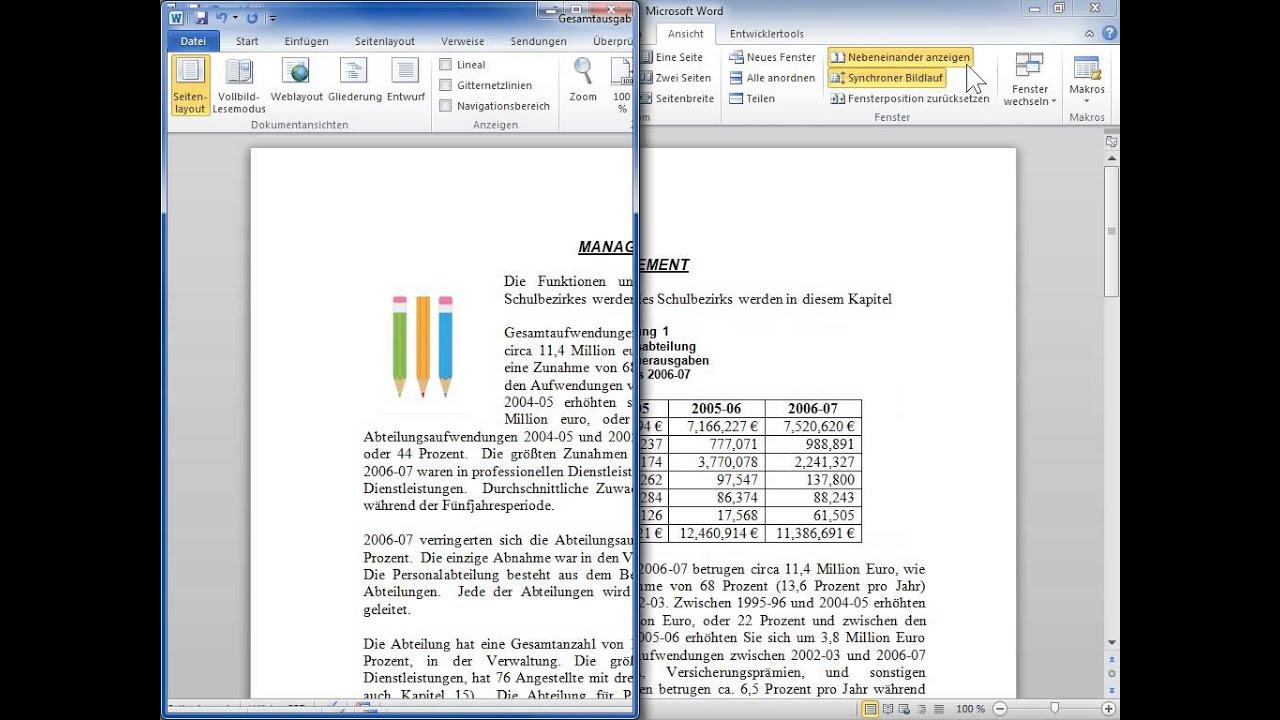 Word Dokumente Vergleichen