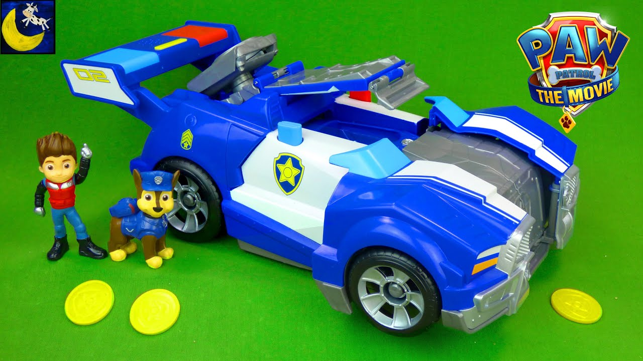 Paw Patrol The Movie Transforming Chase Police Car Vehicle Lookout Tower Liberty Adventure City Toys